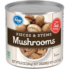 Kroger Pieces And Stems Mushrooms 6.5oz