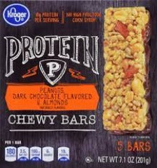 Kroger Protein Chewy Peanuts & Dark Chocolate Bars 5ct