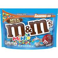 M&M'S Milk Chocolate Minis Candy Sharing Size Bag, 10.1 Oz
