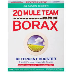 Mule Team Borax All Natural Detergent Booster & Multi-Purpose Household Cleaner 65oz