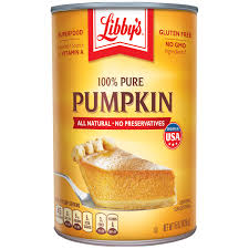 Nestle LIBBYS 100% Pure Canned Pumpkin Puree 15 oz. Can