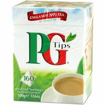 PG Tips Black Tea, Pyramid Tea Bags, 160Count Boxes