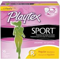 Playtex Sport Regular Absorbency Tampons 36ct