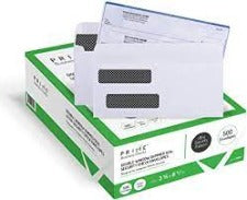 Prime Double Window Self Seal Ultra Security Check Envelopes 500ct