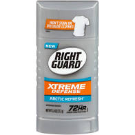 Right Guard Extreme Defense Mens Deodorant Arctic Refresh Scent 3oz