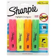 Sharpie Chisel Highlighters 4ct