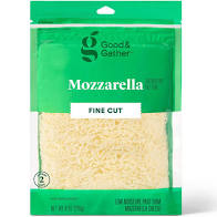 Shredded Mozzarella Cheese 8oz Good & Gather
