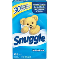 Snuggle Blue Sparkle Dryer Sheets 120ct