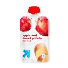 Up&Up Apple & Sweet Potato Baby Food Pouch 3.5oz