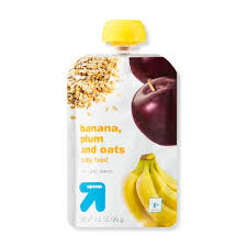 Up&Up Banana, Plum, & Oats Baby Food Pouch 3.5oz