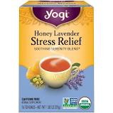 Yogi Honey Lavender Stress Relief Tea Bags 16 Count