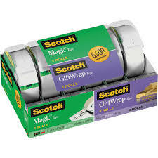 Scotch Tape Mixed Pack 3 Magic/3 Giftwrap