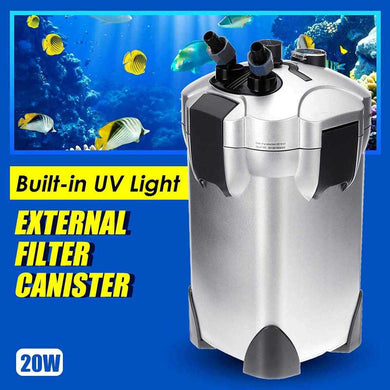Aquarium filter with UV water sterilization, 20 W - UV Home Disinfection