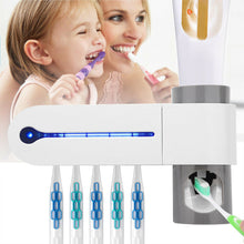 Load image into Gallery viewer, Toothbrush UVC Sterilizer with automatic Toothpaste dispenser - UV Home Disinfection