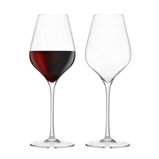 Final Touch Lead-Free Crystal Bordeaux Wine Glasses Set of 2
