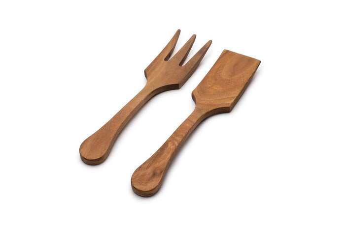 Acacia Wood Extra Large Salad Utensil Set