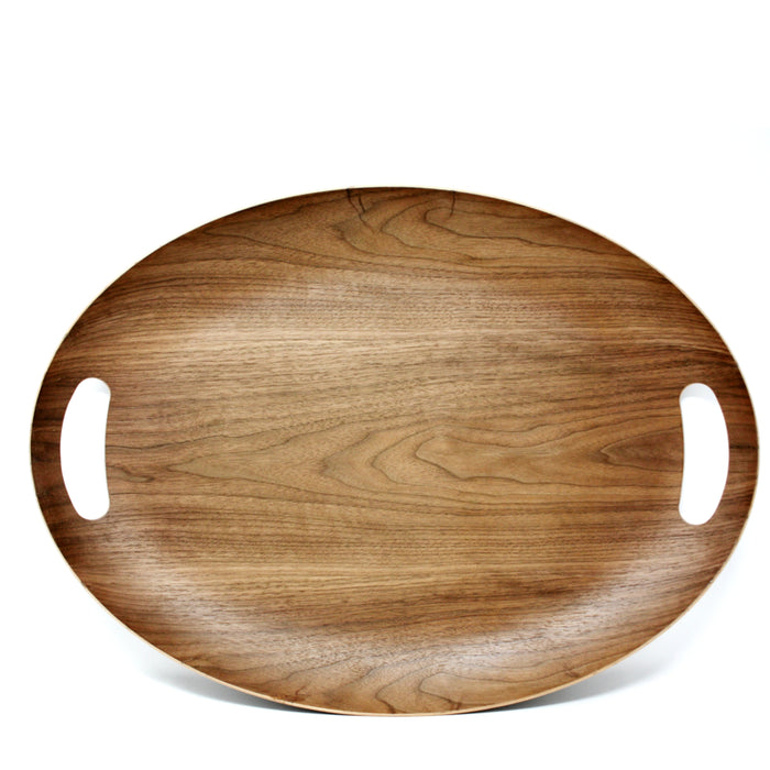 Wood Oval Serving Tray