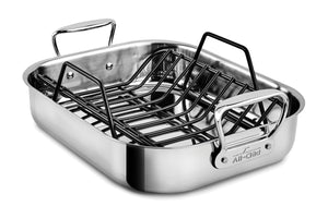 All-Clad D3 Stainless Steel Roaster with Rack