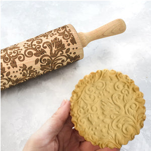 Embossed Wood Rolling Pin