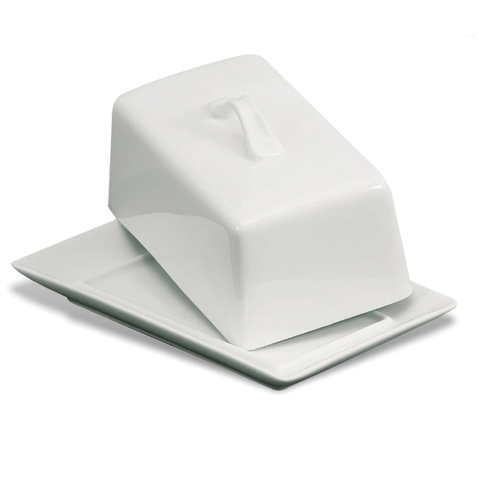 BIA Ceramic Covered Butter Dish - White