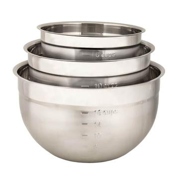 Cuisipro Stainless Mixing Bowl Set 3