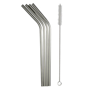 Stainless Straw Set with Cleaning Brush