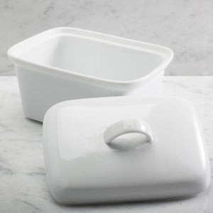 BIA Ceramic Covered Butter Box - White