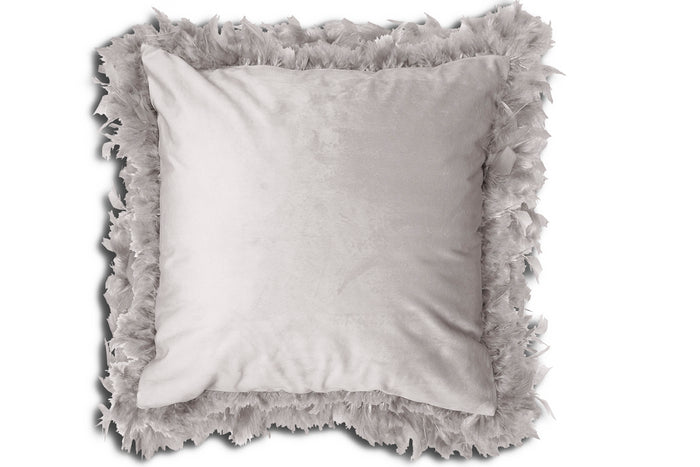 Cushion - Lucia Feathered Grey