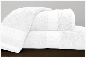 Alamode Bamboo Cotton Towels - White