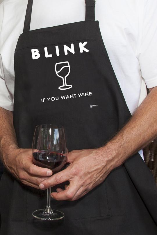 Fun Apron - Blink if You Want Some
