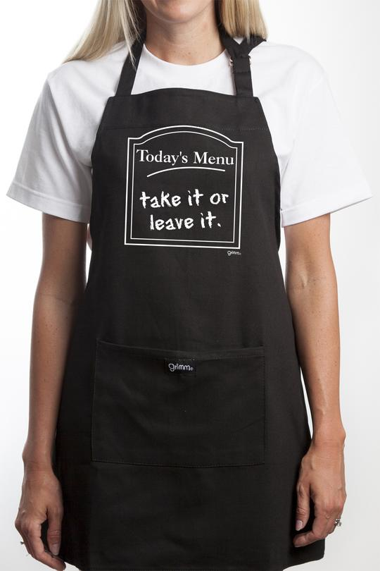Fun Apron - Today's Menu