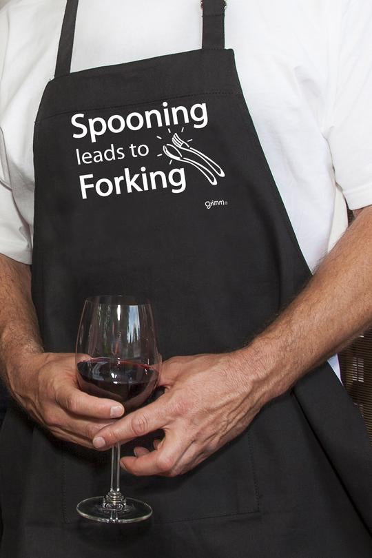 Fun Apron - Spooning Leads to Forking