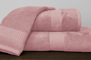 Alamode Bamboo Cotton Towels - Pink