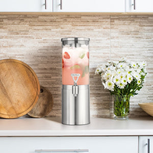 Final Touch Stainless Steel & Glass Beverage Dispenser 2.5L