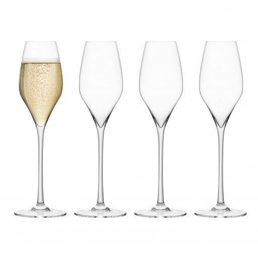 Final Touch Lead-Free Crystal Champagne Glasses Set of 4
