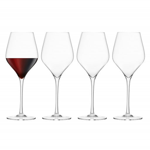 Final Touch Lead-Free Crystal Red Wine Glasses Set of 4
