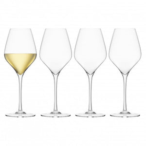 Final Touch Lead-Free Crystal  White Wine Glasses Set of 4
