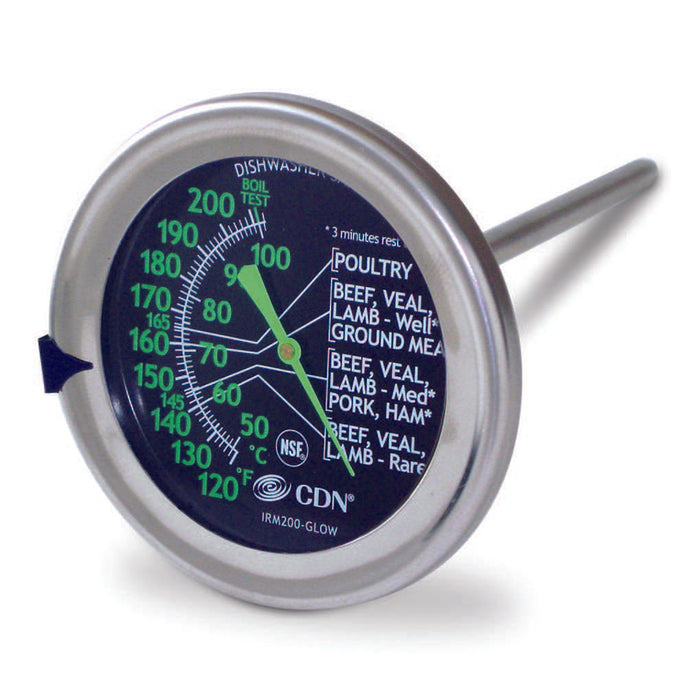 CDN Ovenproof Meat Thermometer Large Dial Glow