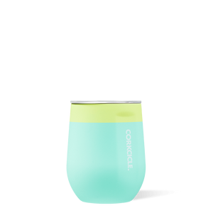 Corkcicle Stemless Wine - Color Block Limeade
