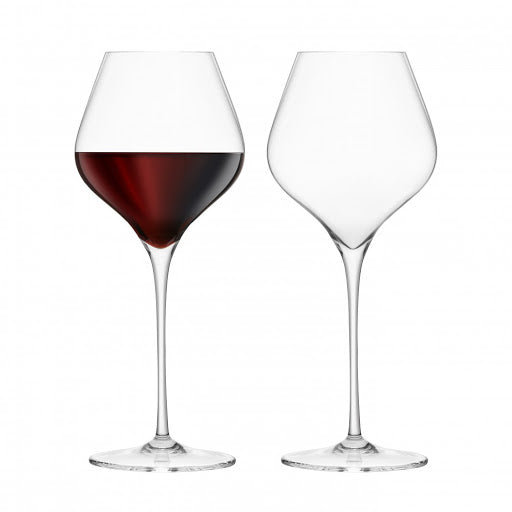 Final Touch Lead-Free Crystal Burgundy Wine Glasses Set of 2