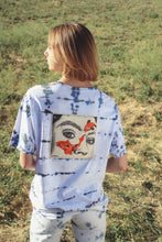 Load image into Gallery viewer, Eye Study Blue and Black Tie Dye Tee