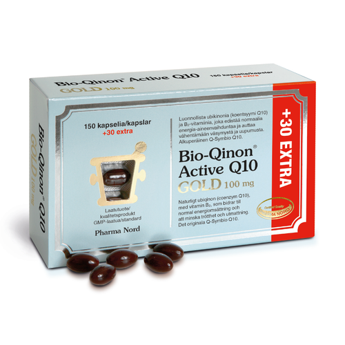 Bio-Qinon Active Q10 Gold 100mg 180 kapselia