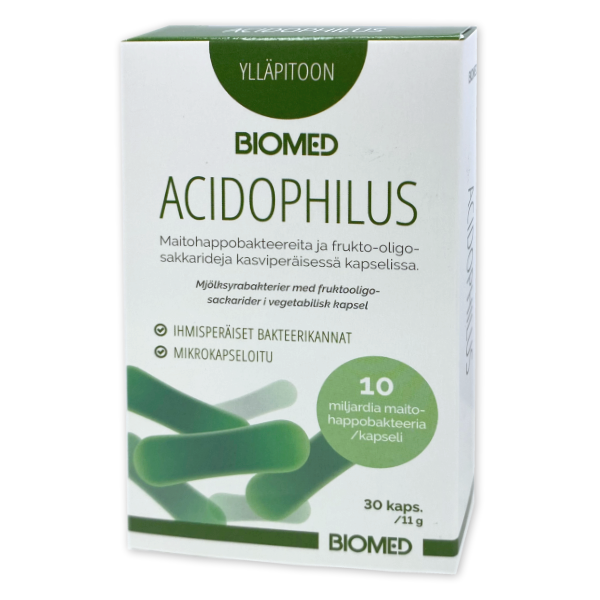 Biomed Acidophilus 30 kapselia