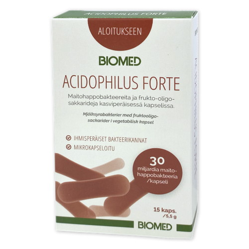 Biomed Acidophilus Forte 15 kapselia