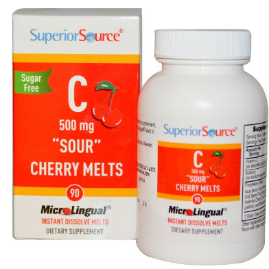 SuperiorSource Microlingual C-vitamiini 500mg