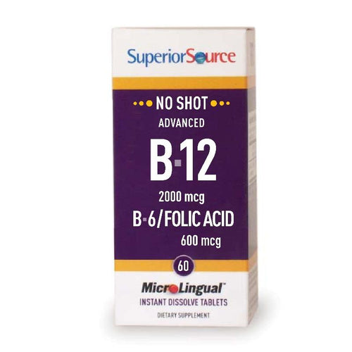 SuperiorSource Advanced Microlingual B12 + B6 + Foolihappo