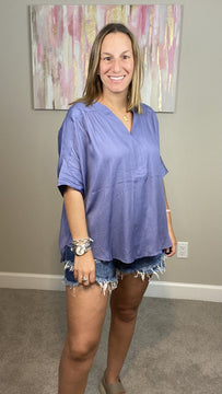 Must Have Woven Top-Lavender