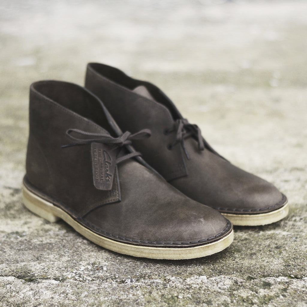 Clark's Desert Boot (Grey Leather) - Epocha Shoe Gallery