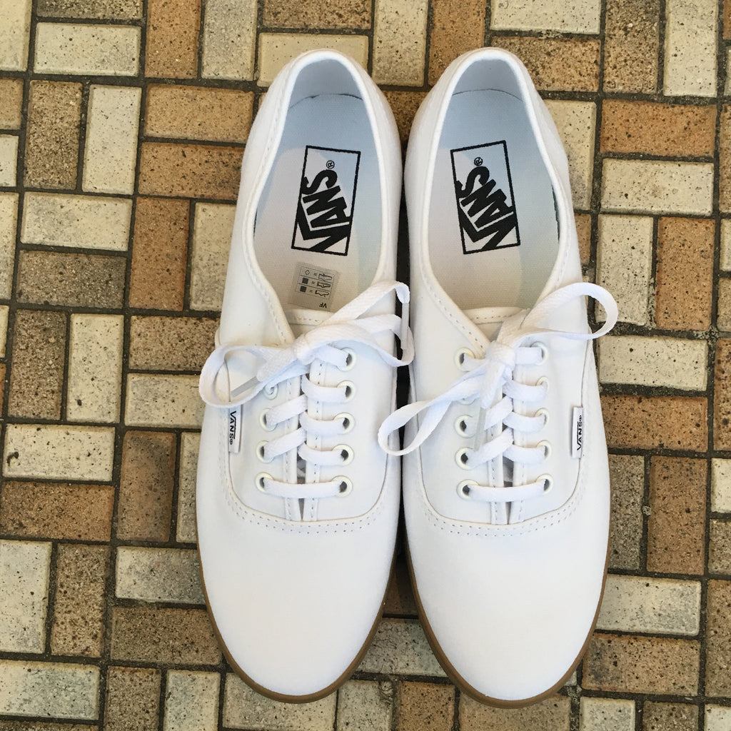 "Vans WOMENS Authentic Lo Pro ""Light Gum"" (True White) - Epocha Shoe Gallery"