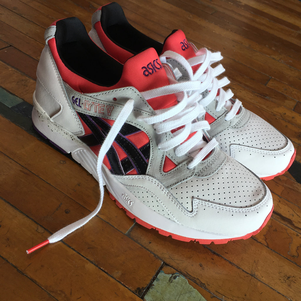 "Asics Gel-Lyte V (Poppy Red/Black) ""Toronto Raptors"" - Epocha Shoe Gallery"